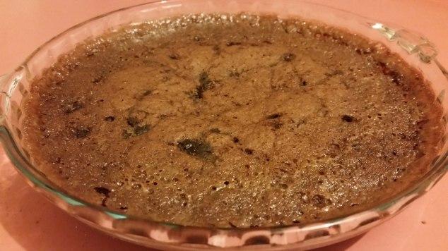 A self-saucing chocolate pudding.