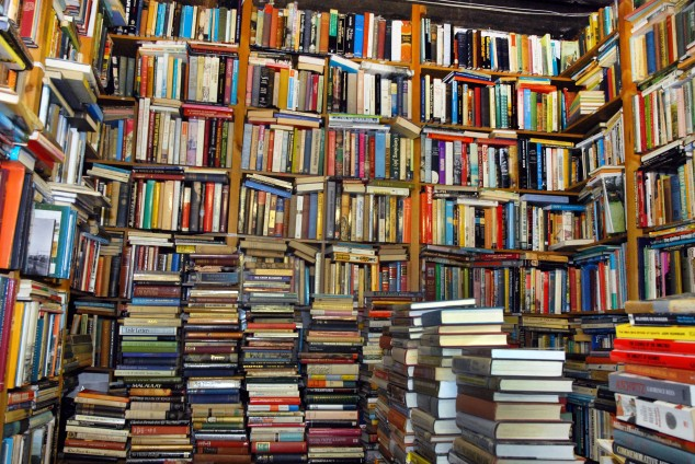 The best perk of working in publishing? Free books! Photo source.