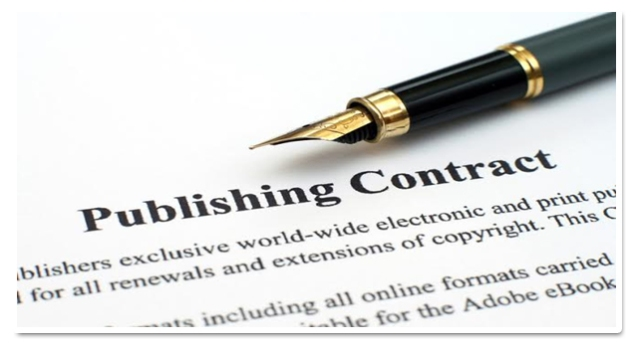 Post acquisitions meeting: the revered publishing contract. Photo source.
