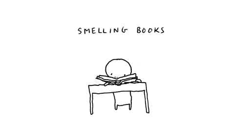 I love the smell of books. You can't get that from an eReader. Photo source.