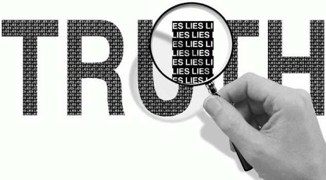 Further investigation can reveal the truth about certain information published on social media. Source.